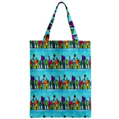 Colourful Street A Completely Seamless Tile Able Design Zipper Classic Tote Bag
