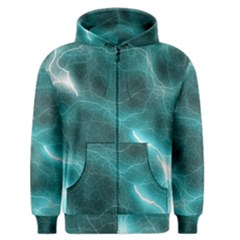 Light Web Colorful Web Of Crazy Lightening Men s Zipper Hoodie