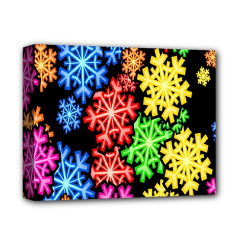 Colourful Snowflake Wallpaper Pattern Deluxe Canvas 14  X 11  by Nexatart