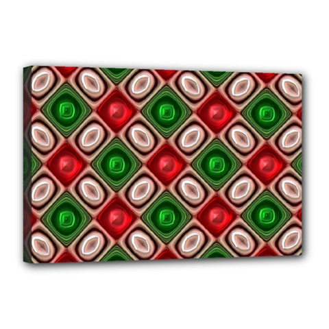 Gem Texture A Completely Seamless Tile Able Background Design Canvas 18  X 12  by Nexatart