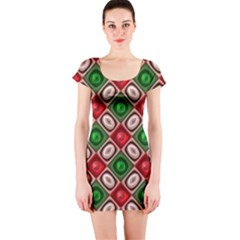 Gem Texture A Completely Seamless Tile Able Background Design Short Sleeve Bodycon Dress