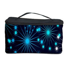 Digitally Created Snowflake Pattern Background Cosmetic Storage Case by Nexatart