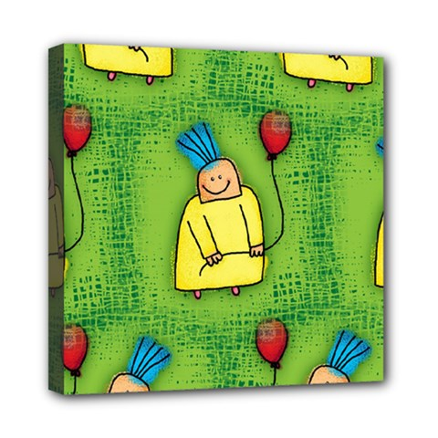 Party Kid A Completely Seamless Tile Able Design Mini Canvas 8  X 8  by Nexatart