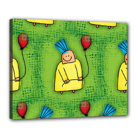Party Kid A Completely Seamless Tile Able Design Canvas 20  X 16