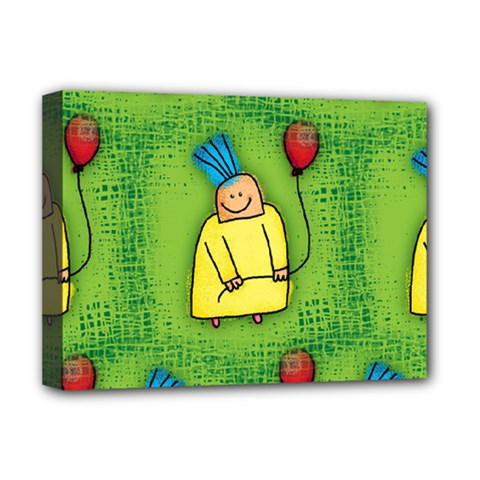 Party Kid A Completely Seamless Tile Able Design Deluxe Canvas 16  X 12   by Nexatart