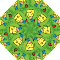 Party Kid A Completely Seamless Tile Able Design Golf Umbrellas by Nexatart