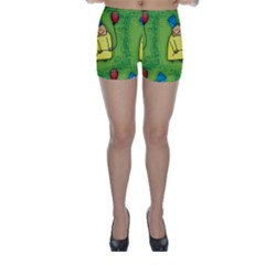 Party Kid A Completely Seamless Tile Able Design Skinny Shorts