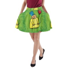 Party Kid A Completely Seamless Tile Able Design A Line Pocket Skirt by Nexatart