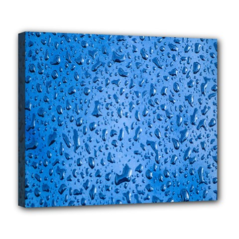 Water Drops On Car Deluxe Canvas 24  X 20