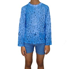 Water Drops On Car Kids  Long Sleeve Swimwear