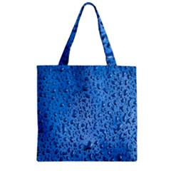 Water Drops On Car Zipper Grocery Tote Bag