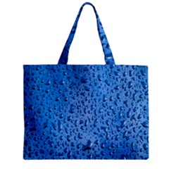 Water Drops On Car Zipper Mini Tote Bag