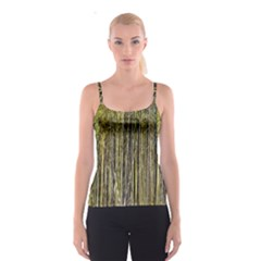 Bamboo Trees Background Spaghetti Strap Top