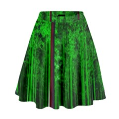 Spooky Forest With Illuminated Trees High Waist Skirt by Nexatart