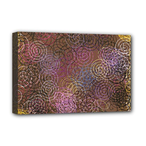 2000 Spirals Many Colorful Spirals Deluxe Canvas 18  X 12   by Nexatart