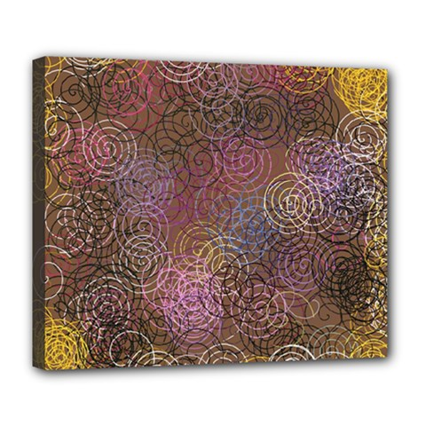 2000 Spirals Many Colorful Spirals Deluxe Canvas 24  X 20