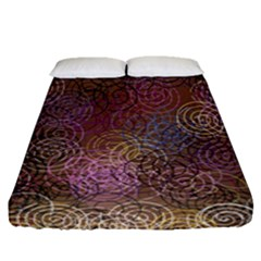 2000 Spirals Many Colorful Spirals Fitted Sheet (queen Size) by Nexatart