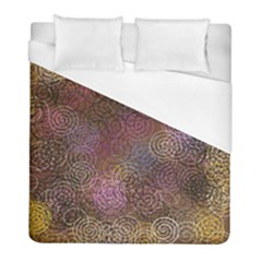 2000 Spirals Many Colorful Spirals Duvet Cover (full/ Double Size)