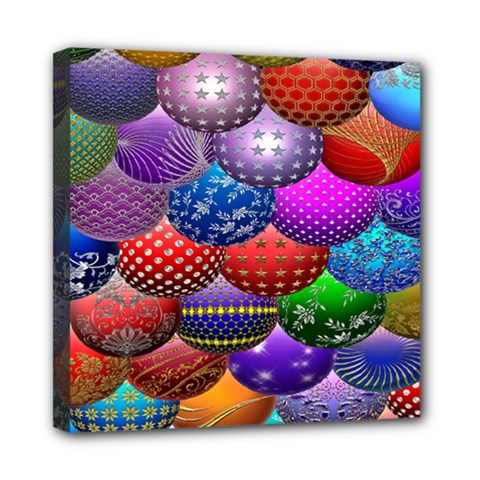 Fun Balls Pattern Colorful And Ornamental Balls Pattern Background Mini Canvas 8  X 8  by Nexatart