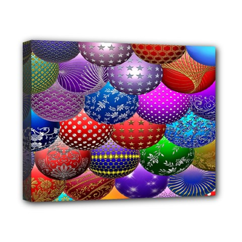 Fun Balls Pattern Colorful And Ornamental Balls Pattern Background Canvas 10  X 8  by Nexatart