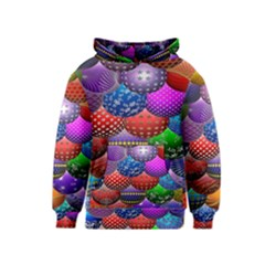 Fun Balls Pattern Colorful And Ornamental Balls Pattern Background Kids  Pullover Hoodie