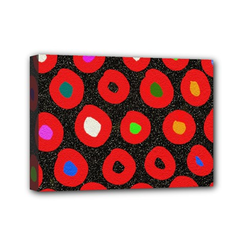 Polka Dot Texture Digitally Created Abstract Polka Dot Design Mini Canvas 7  X 5
