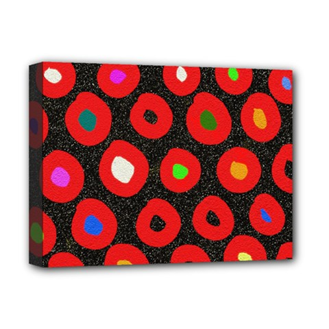 Polka Dot Texture Digitally Created Abstract Polka Dot Design Deluxe Canvas 16  X 12   by Nexatart