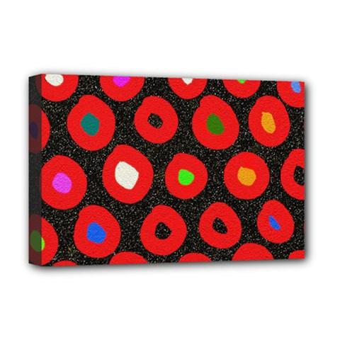 Polka Dot Texture Digitally Created Abstract Polka Dot Design Deluxe Canvas 18  X 12   by Nexatart