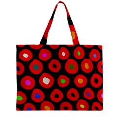 Polka Dot Texture Digitally Created Abstract Polka Dot Design Zipper Mini Tote Bag