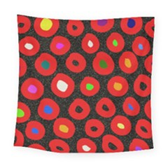 Polka Dot Texture Digitally Created Abstract Polka Dot Design Square Tapestry (large)