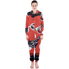 Twenty One Pilots Poster Contest Entry Hooded Jumpsuit (ladies)
