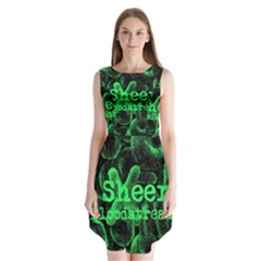 Bloodstream Single Ed Sheeran Sleeveless Chiffon Dress   by Onesevenart