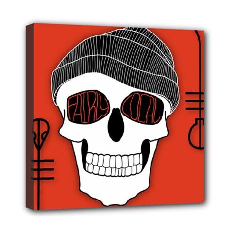 Poster Twenty One Pilots Skull Mini Canvas 8  X 8  by Onesevenart