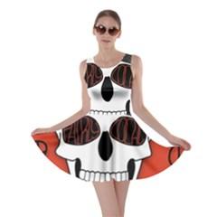 Poster Twenty One Pilots Skull Skater Dress by Onesevenart