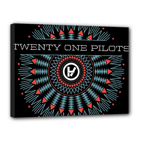Twenty One Pilots Canvas 16  X 12  by Onesevenart