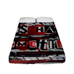 Top Lyrics Twenty One Pilots The Run And Boys Fitted Sheet (full/ Double Size) by Onesevenart
