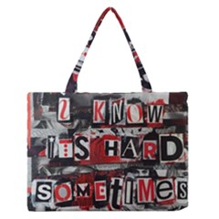Top Lyrics Twenty One Pilots The Run And Boys Medium Zipper Tote Bag by Onesevenart
