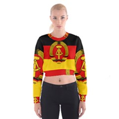 Flag Of East Germany Cropped Sweatshirt