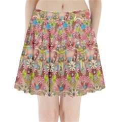 Jungle Life And Paradise Apples Pleated Mini Skirt by pepitasart