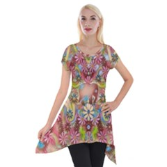 Jungle Life And Paradise Apples Short Sleeve Side Drop Tunic by pepitasart