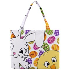 Easter Bunny And Chick  Mini Tote Bag by Valentinaart