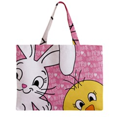Easter Bunny And Chick  Zipper Mini Tote Bag by Valentinaart
