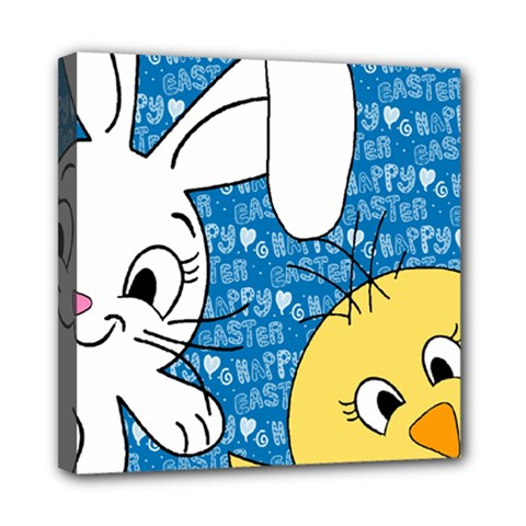 Easter Bunny And Chick  Mini Canvas 8  X 8  by Valentinaart