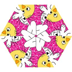 Easter Bunny And Chick  Mini Folding Umbrellas by Valentinaart