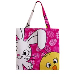 Easter Bunny And Chick  Zipper Grocery Tote Bag by Valentinaart