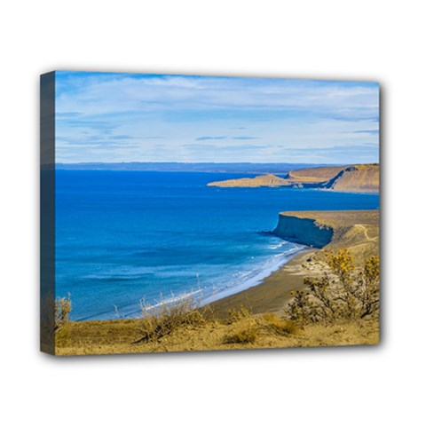 Seascape View From Punta Del Marquez Viewpoint, Chubut, Argentina Canvas 10  X 8  by dflcprints