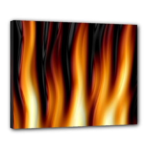 Dark Flame Pattern Canvas 20  X 16