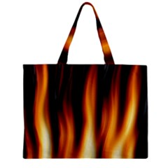 Dark Flame Pattern Zipper Mini Tote Bag