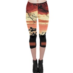 Autumn Song Autumn Spreading Its Wings All Around Capri Leggings  by Nexatart