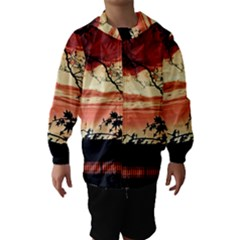 Autumn Song Autumn Spreading Its Wings All Around Hooded Wind Breaker (kids) by Nexatart